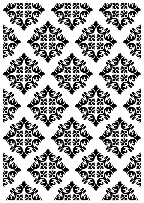 Embossing Folder - Diamond Damask