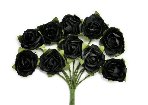 Mini Paper Blooms - Black