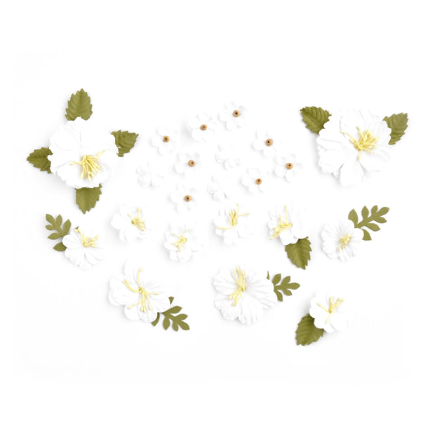 Handmade Flowers - White