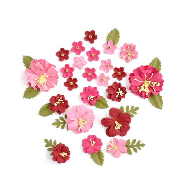 Handmade Flowers - Bright Pink
