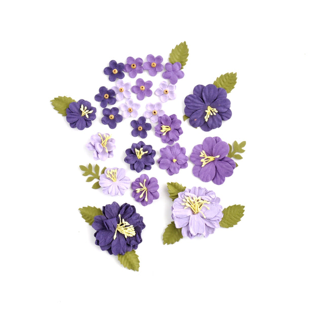 Handmade Flowers - Purple