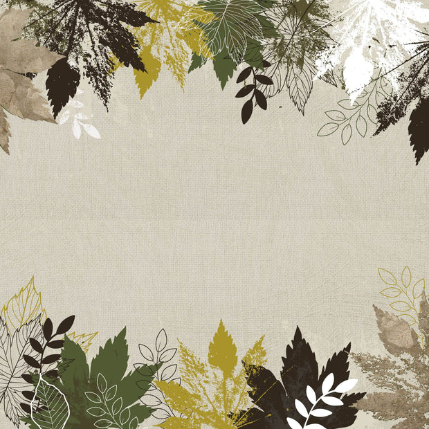 Fallen Leaves 12x12 Scrapbook Paper - Morning Dew