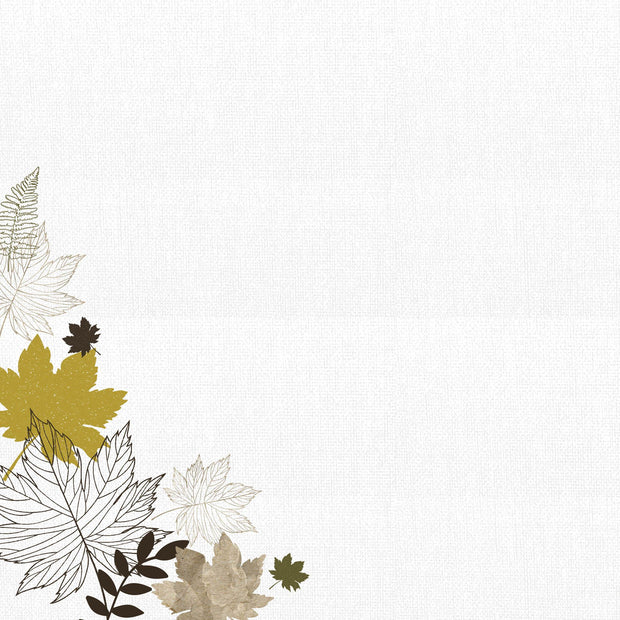Fallen Leaves 12x12 Scrapbook Paper - Warm Breeze