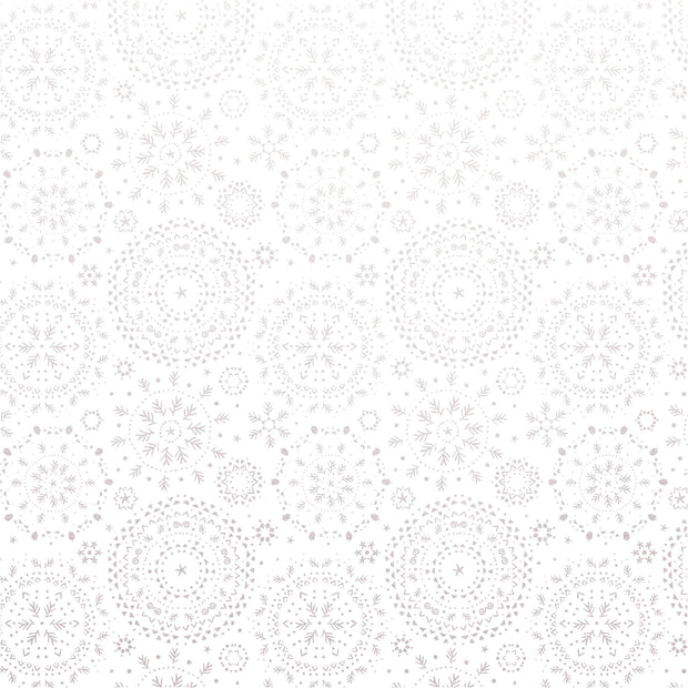 Whimsy Wishes 12x12 Scrapbook Paper - FALLING SNOW