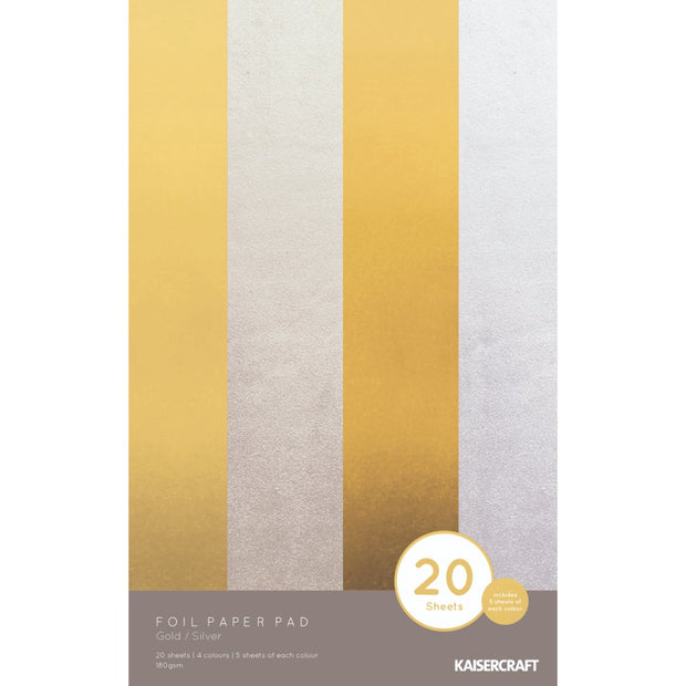 Foil Paper Pad - Gold/Silver 20 Sheets