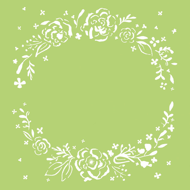 6x6 Designer Templates- Floral Wreath