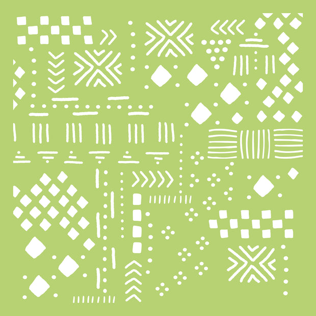 "6 x 6"" Designer Templates - Tribal Collage"