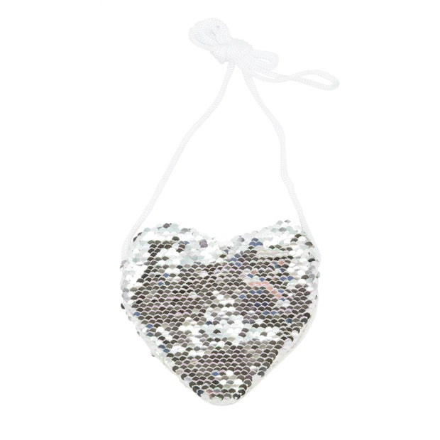 KaiserKids - Sequin Heart Bag - SILVER