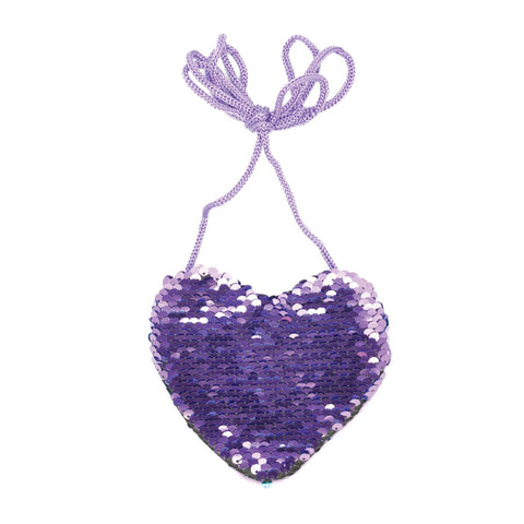 KaiserKids - Sequin Heart Bag - PURPLE