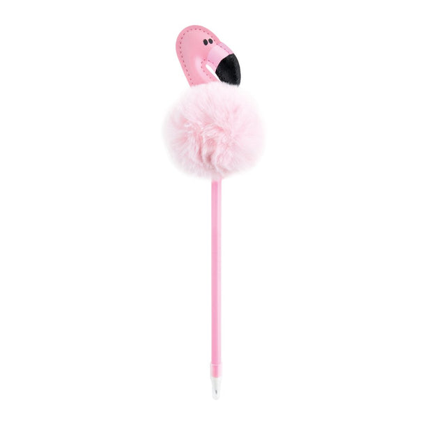 KaiserKids - Novelty Pen - PALE PINK POM FLAMINGO