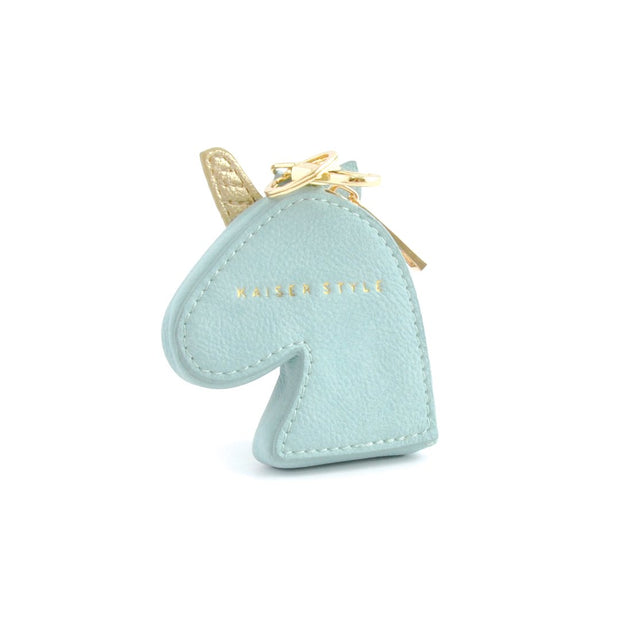 Keyring Coin Purse - Unicorn Blue