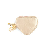 Keyring Coin Purse - Heart Metallic Rose Gold