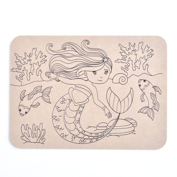 Colour Your Own Placemat - Mermaid