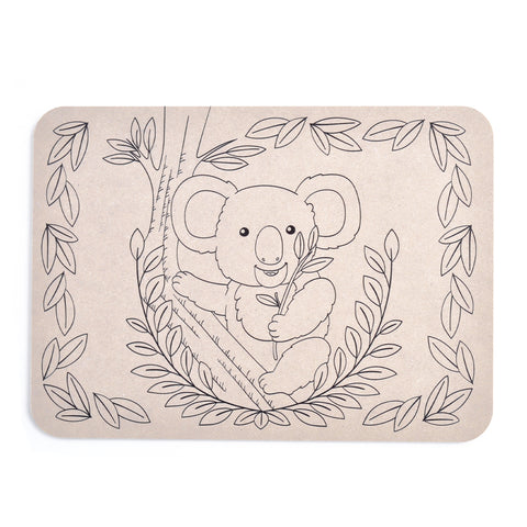 Colour Your Own Placemat - Koala