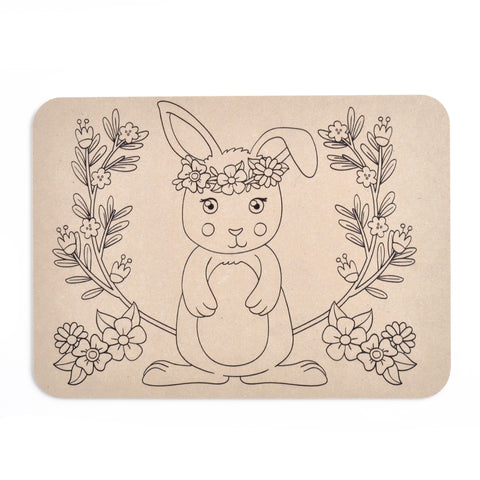 Colour Your Own Placemat - Rabbit