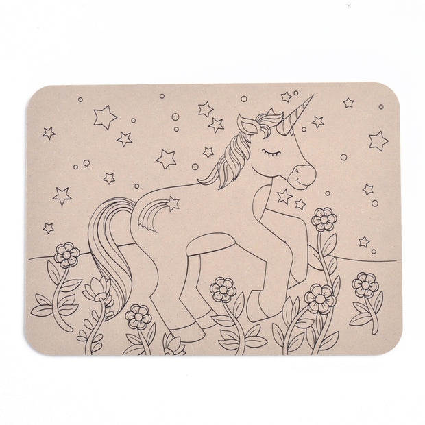 Colour Your Own Placemat - Unicorn