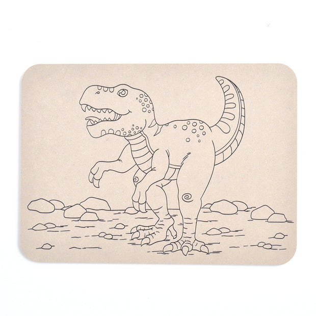 Colour Your Own Placemat - Dinosaur