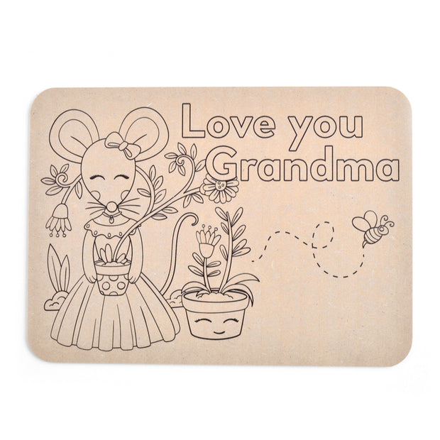 Colour Your Own Placemat - Grandma