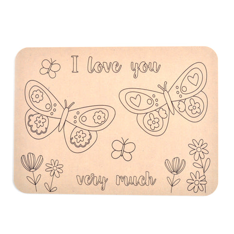 Colour Your Own Placemat - Butterfly Love