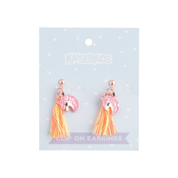 Clip on Earrings - TASSEL UNICORN