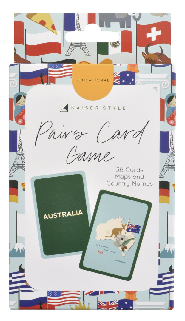 Matching Game Cards - COUNTRIES