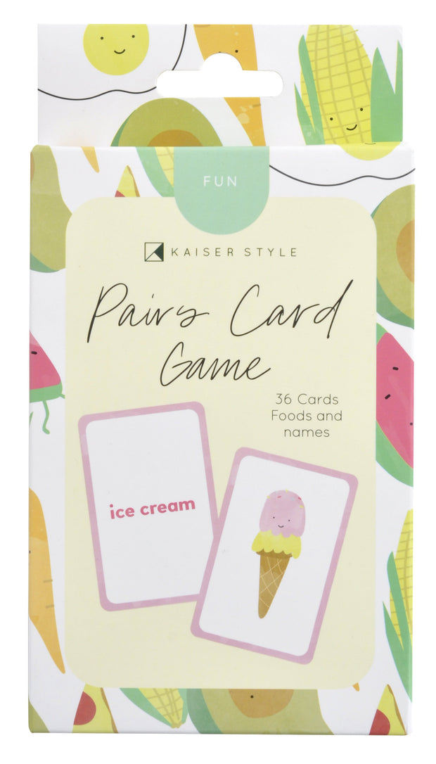 Matching Game Cards - FOOD