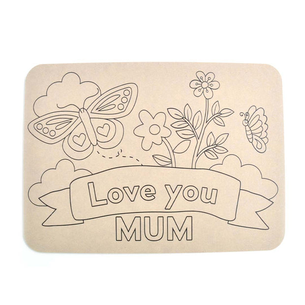 Colour your Own Placemat - LOVE YOU MUM