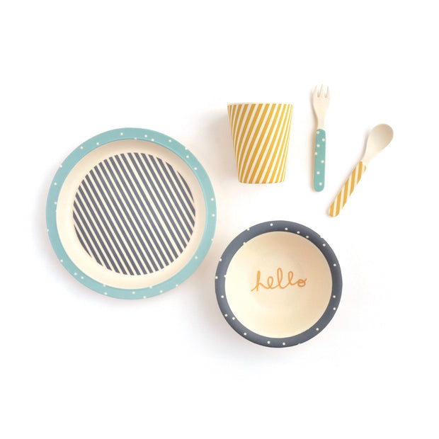 Bamboo Tableware Set 5pc - HELLO BASIC