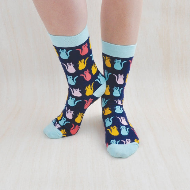 RETRO CAT Socks