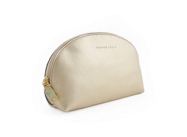 Curved Clutch - Metallic Gold