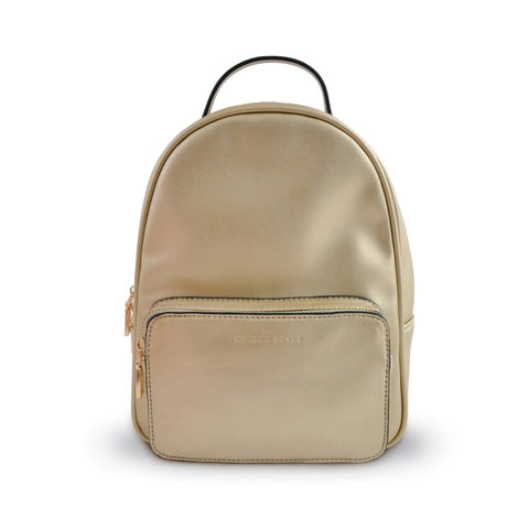 Rounded Backpack - Metallic Gold