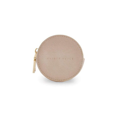 Round Coin Purse - Beige