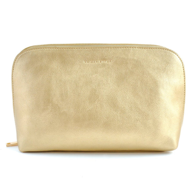 Large Cosmetic Bag - Metallic Gold