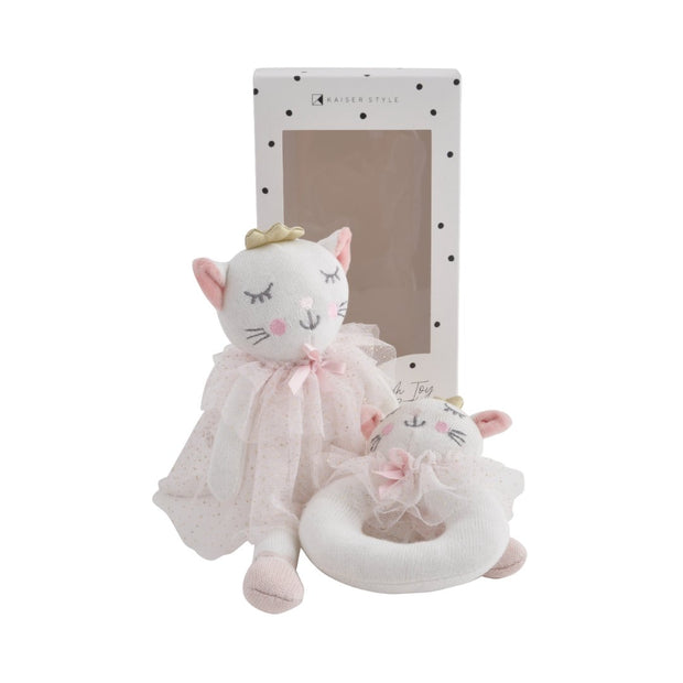 Plush Toy & Rattle - PRINCESS KITTY
