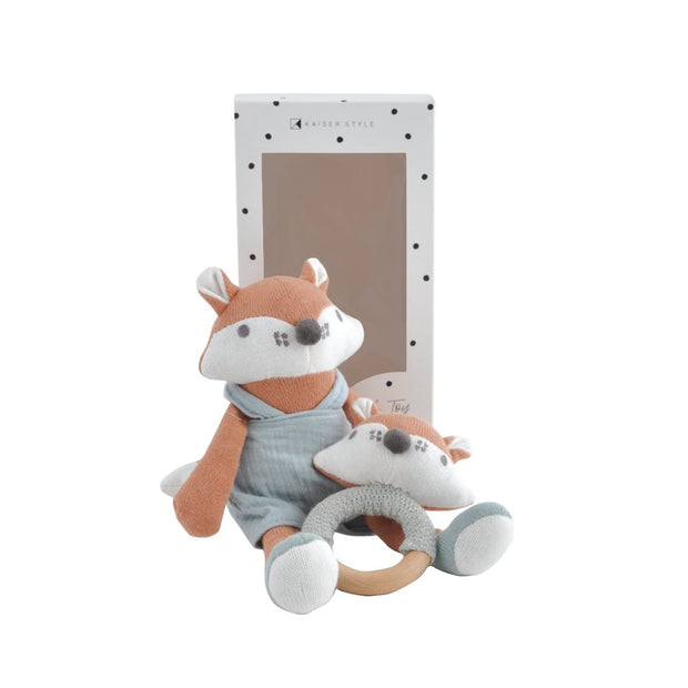 Plush Toy & Rattle - FREDDIE THE FOX