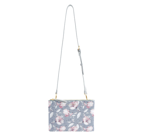 Rect Shoulder Bag - GREY FLORAL