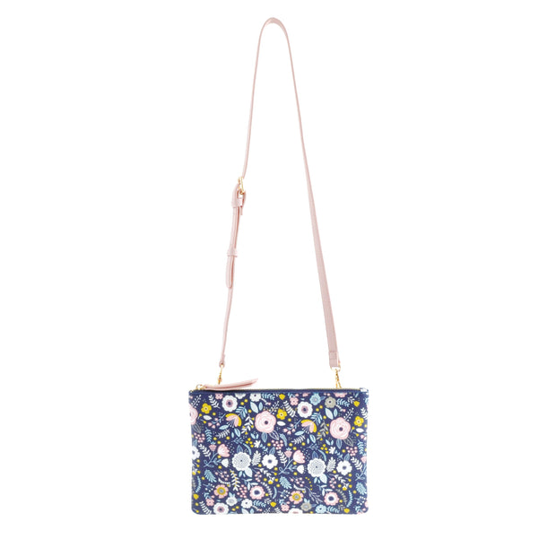 Rect Shoulder Bag - NAVY LADY