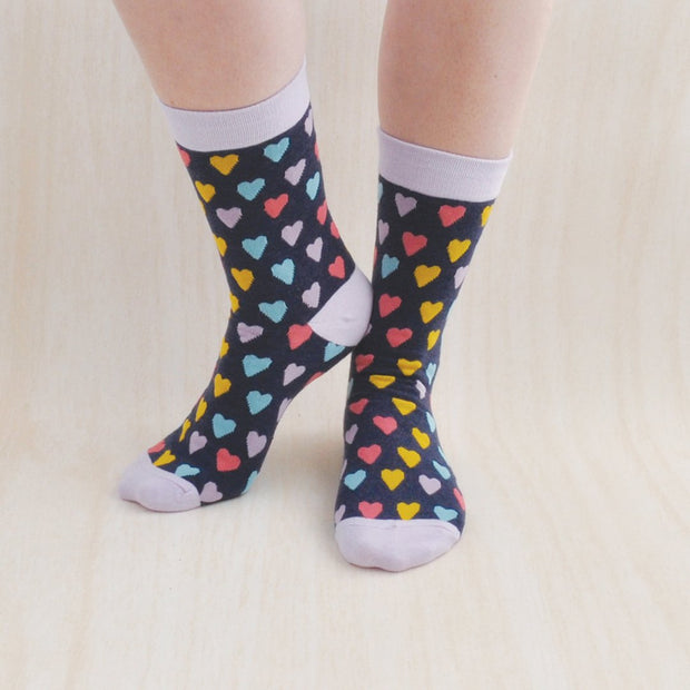 Socks - MULTI HEART