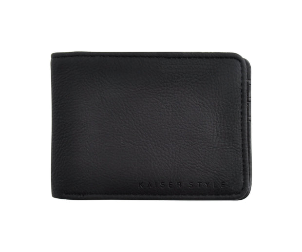 PU Wallet Slimline - BLACK
