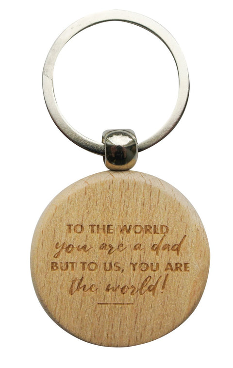 Wooden Keyring - DAD