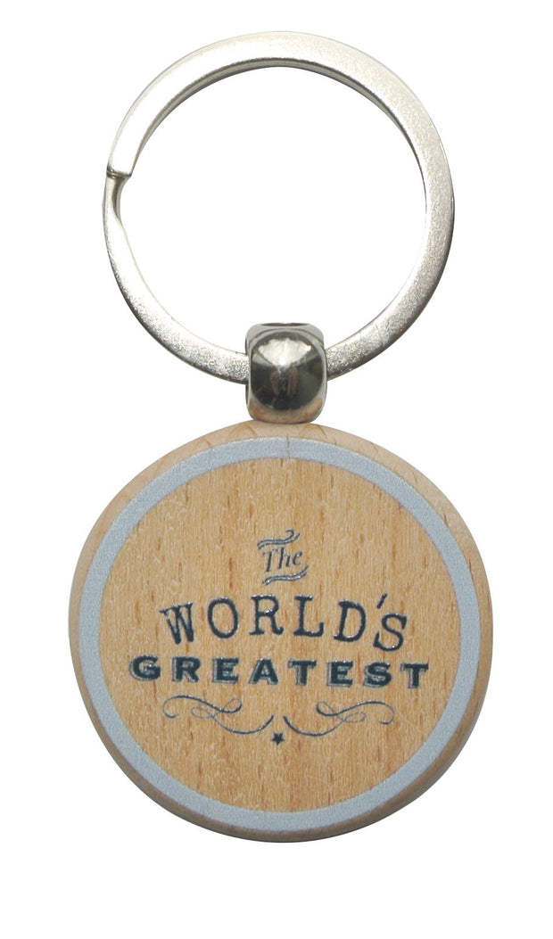 Wooden Keyring - WORLDS GREATEST