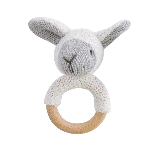 Wooden Baby Rattle - SHEEP