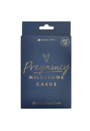 Pregnancy Milestone Cards - NAVY