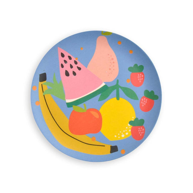 Kids Bamboo 4pc Plate set - HAPPY CHAPPY