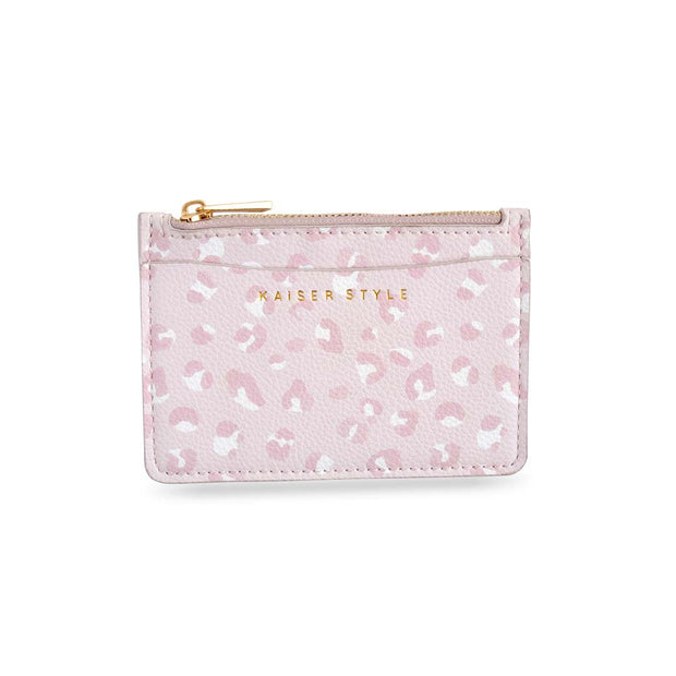 Card Pouch - BLUSH LEOPARD
