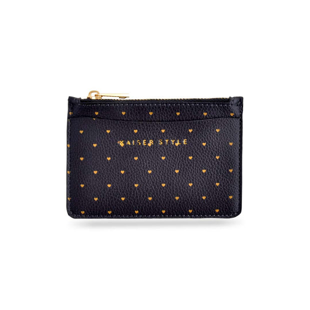 Card Pouch - NAVY HEARTS