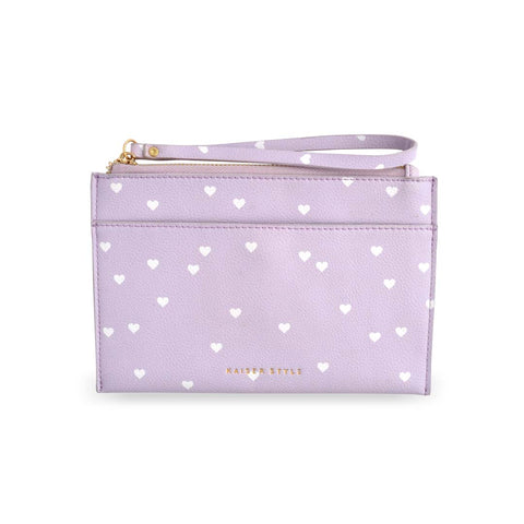 PU Leather Pouch - LILAC HEARTS
