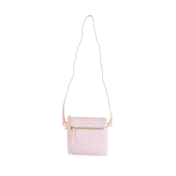 PU Sq Handbag - BLUSH LEOPARD