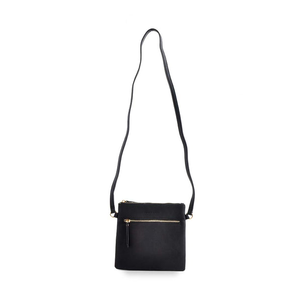 PU Sq Handbag - BLACK
