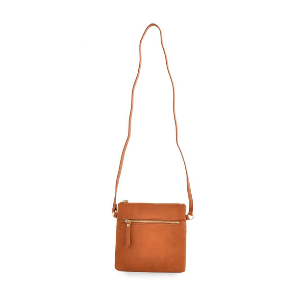 PU Sq Handbag - TAN